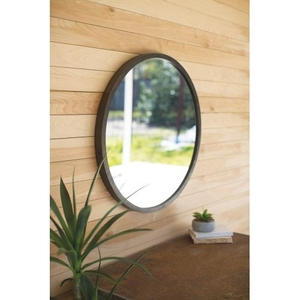 Round Mirror - Natural Metal Frame