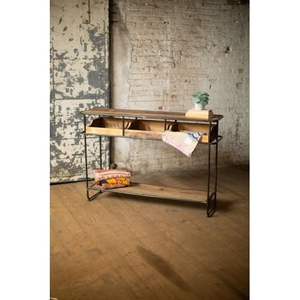 Wood And Metal Display Console