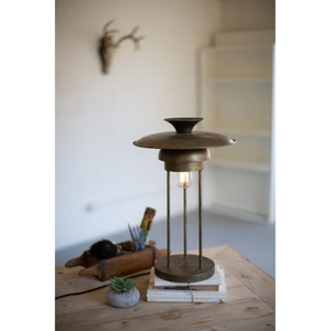 Metal Table Lamp With Dome Shade