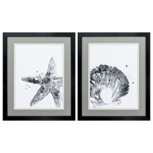 Ink Coast Set of 2 Framed Beach Wall Art