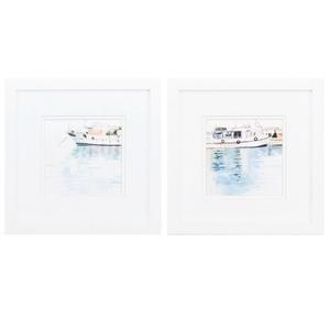 Harbor Impression Set of 2 Framed Beach Wall Art