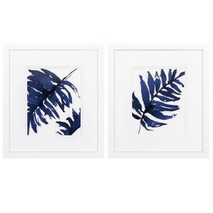 Blue Ferns Set of 2 Framed Beach Wall Art