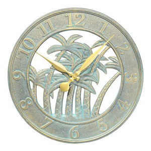 Palm Tree Clock Indoor or Outdoor