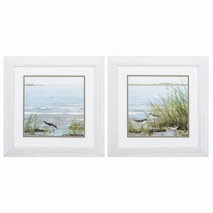 Afternoon On Shore Set of 2 Framed Beach Wall Art