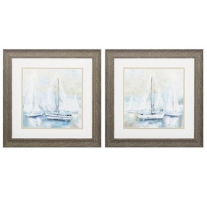 Sail  Set of 2 Framed Beach Wall Art