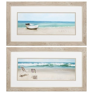 Tides View Set of 2 Framed Beach Wall Art