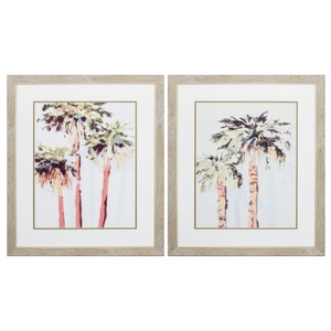 Light & Bright Palms Set of 2 Framed Beach Wall Art
