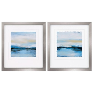 Dreaming Blue Set of 2 Framed Beach Wall Art