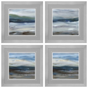 Denim Dance Set of 4 Framed Beach Wall Art
