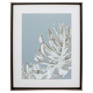 La Naturaleza On Gray I Framed Beach Wall Art
