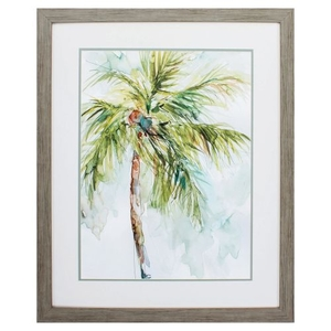 Palm Breezes I Framed Beach Wall Art