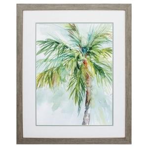 Palm Breezes Ii Framed Beach Wall Art