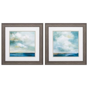 Cloudscape Set of 2 Framed Beach Wall Art