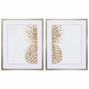 Pineapple Life Set of 2 Framed Beach Wall Art