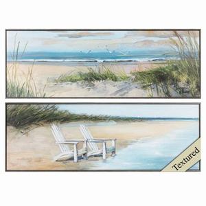 Wind Water Set of 2 Framed Beach Wall Art