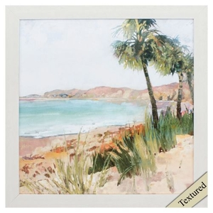 Coastal Palms Ii Framed Beach Wall Art