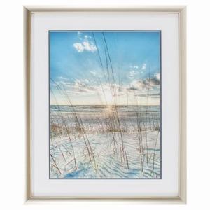 Among The Grass Framed Beach Wall Art