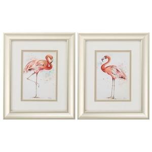 Pink Showoff Set of 2 Framed Beach Wall Art