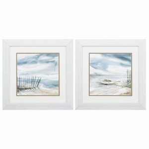 Subtle Mist Set of 2 Framed Beach Wall Art