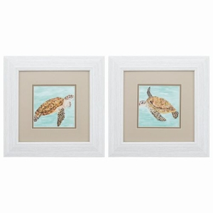 Calm Swim Set of 2 Framed Beach Wall Art