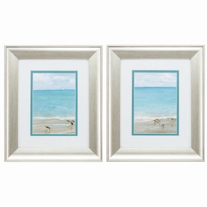 Sunday At The Shore Set of 2 Framed Beach Wall Art