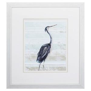 Grey Heron Ii Framed Beach Wall Art