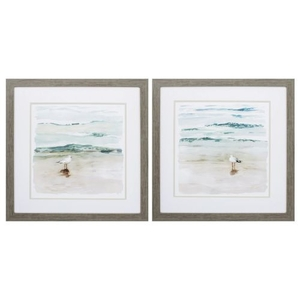 Seagull Cove Set of 2 Framed Beach Wall Art