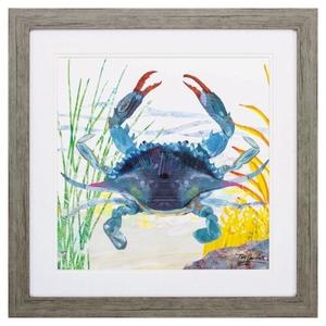 Sea Creature Crab Framed Beach Wall Art