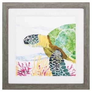 Sea Creature Turtle Framed Beach Wall Art