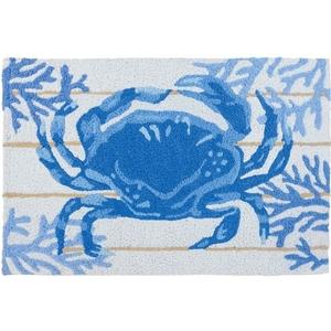 "Indigo Crab Indoor/Outdoor Rug, 20"" X 30"""