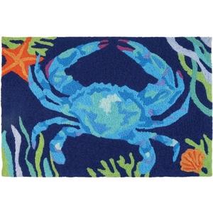 """Deep Blue Crab Indoor/Outdoor Rug, 20"""" X 30"""""""