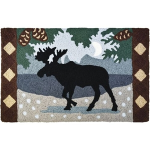 "Northwoods Moose Indoor/Outdoor Rug, 20"" X 30"""
