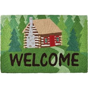 """Welcome To The Cabin Indoor/Outdoor Rug, 20"""" X 30"""""""