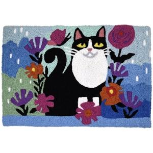 """Garden Feline Indoor/Outdoor Rug, 20"""" X 30"""""""