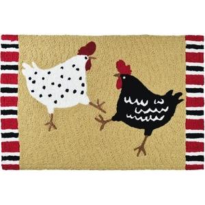 """Chicken Dance Indoor/Outdoor Rug, 20"""" X 30"""""""