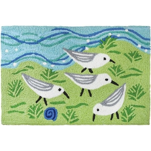 "The Sandpiper Gang Indoor/Outdoor Rug, 20"" X 30"""