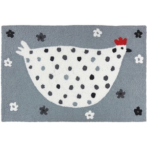 "Cool Grey Chick Indoor/Outdoor Rug, 20"" X 30"""