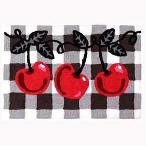 """Cherries On Checks Indoor/Outdoor Rug, 20"""" X 30"""""""
