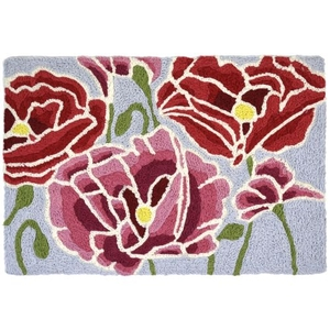 "Pink & Red Poppies Indoor/Outdoor Rug, 20"" X 30"""