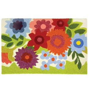 """Flowery Garden Indoor/Outdoor Rug, 20"""" X 30"""""""