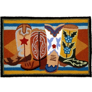 "Western Boots Indoor/Outdoor Rug, 20"" X 30"""