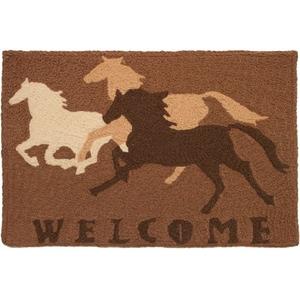 """Welcome Horses Indoor/Outdoor Rug, 20"""" X 30"""""""