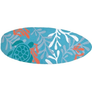 """Surfboard - Turtle Indoor/Outdoor Rug, 21"""" X 54"""""""