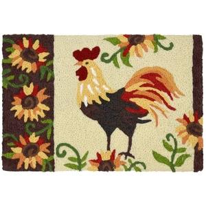 """Rooster & Sunflowers Indoor/Outdoor Rug, 20"""" X 30"""""""
