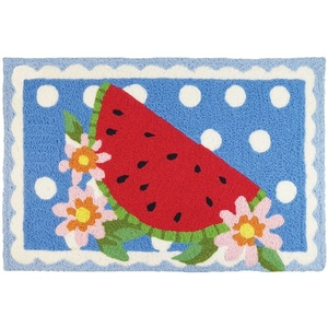 "Watermelon On Doily Indoor/Outdoor Rug, 20"" X 30"""
