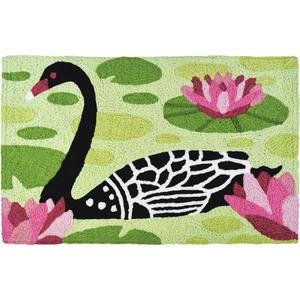 """Black Swan Indoor/Outdoor Rug, 20"""" X 30"""""""