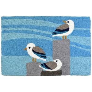 "Sunning Seagulls Indoor/Outdoor Rug, 20"" X 30"""