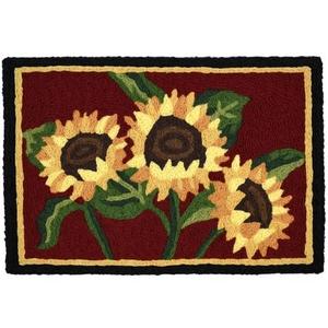"""Sunflower Bouquet Indoor/Outdoor Rug, 20"""" X 30"""""""
