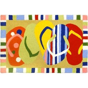 """Multi-Colored Sandals Indoor/Outdoor Rug, 20"""" X 30"""""""