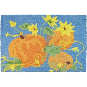 """Pumpkins & Sunflowers Indoor/Outdoor Rug, 20"""" X 30"""""""